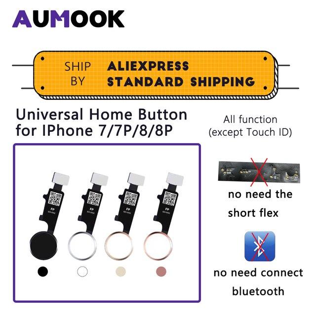 אוניברסלי בית לחצן עבור IPhone 7 7 בתוספת 8 8 בתוספת עם כל פונקצית עבודה ללא מגע מזהה פונקציה לא bluetooth לא קצר להגמיש