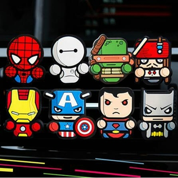 The Marvel Style Captain America ironMan Yoda Antman Batman Air Freshener Styling perfumes Auto Air Condition Vent Outlet Clip image