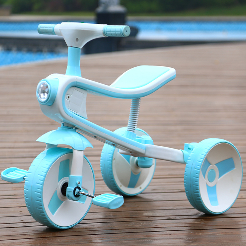 Large New Children's Tricycle Bicycle Baby Scooter Easy Folding Cart Three Wheel Stroller Kids Bike Form Wheel With Flight