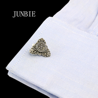 JUNBIE vintage Sparta style shirt cufflink for mens designer Cuff link Button male Manga crystal Jewelry Wedding Free Shipping