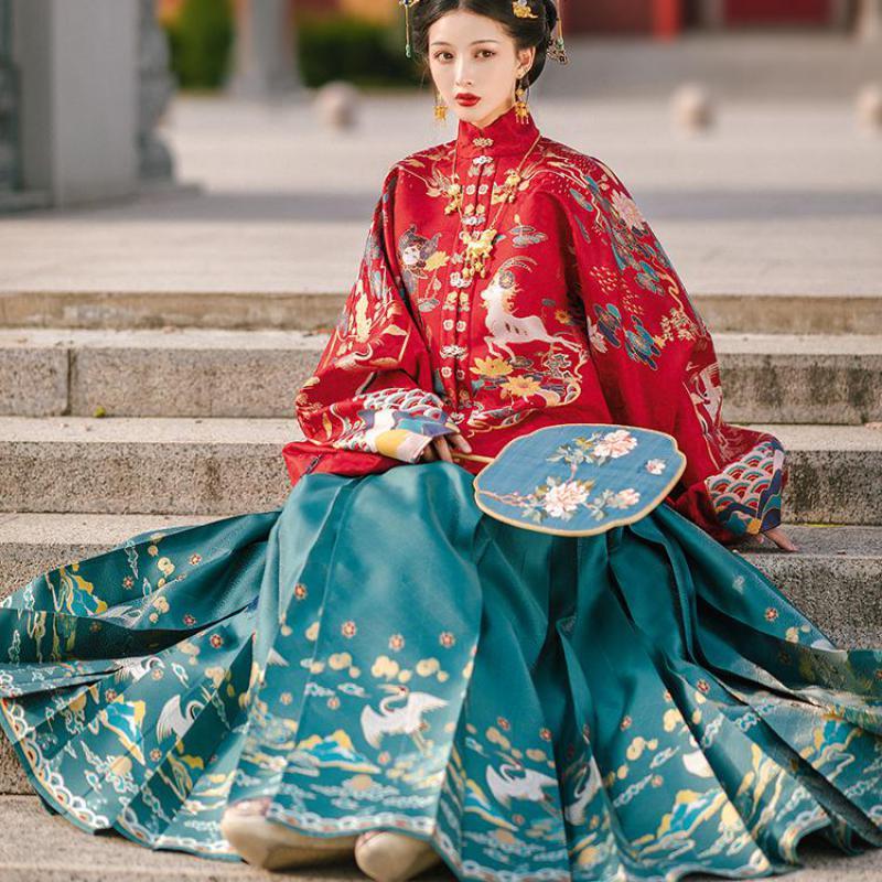 Han hanedanı peri prenses giyim kadın çin Mandarin yaka kostüm kadın Hanfu giyim yenilik Tang hanedanı soyunma
