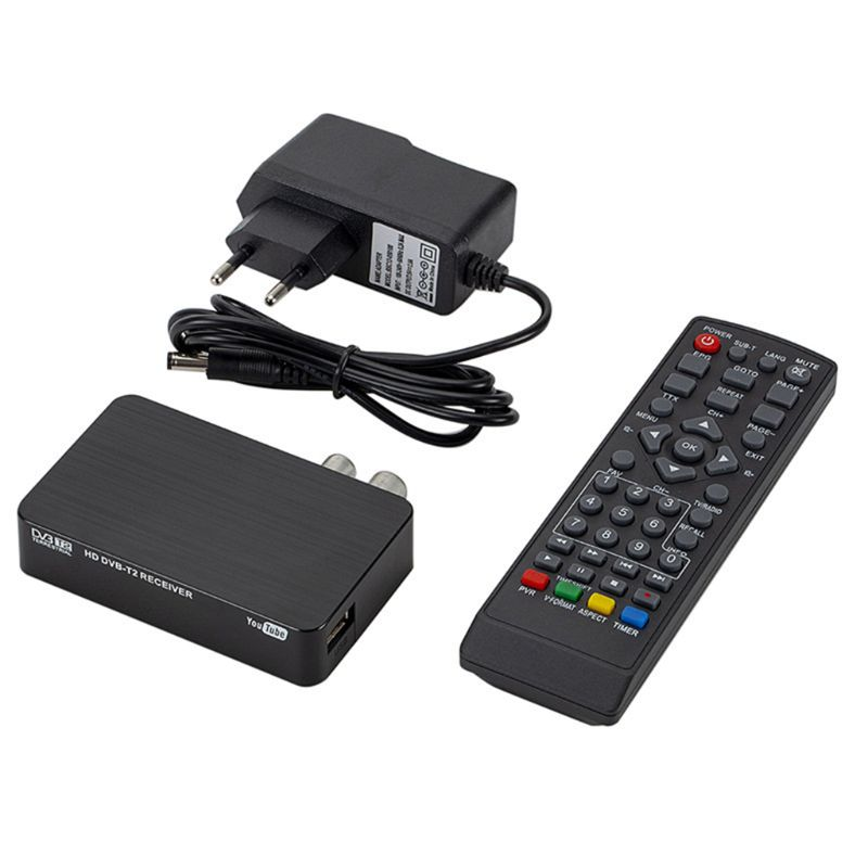 Mini K2 TV Receiver DVB-T2 DVB-T H.264 FHD Terrestrial Digital Decoder TV Tuner Set Top Box For Monitor Support PVR Wifi Antenna