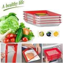 1/2/4 pçs criativo alimentos preservação bandeja fresco mantendo placas espaçador para organizador de alimentos conservação geladeira cozinha armazenamento