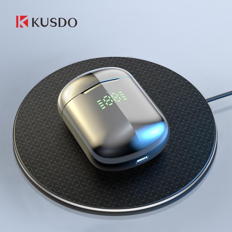 Bezdrátová sluchátka KUSDO TWS LED HiFi stereofonní sluchátka - Přenosné audio a video
