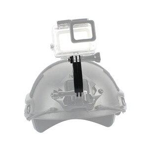 Image 2 - Krótki typ kask gięcie wysięgnik złącze Adapter do montażu 7.5cm dla GoPro Hero 7/6/5/4/3 +/3/2/1 Action Camera akcesoria