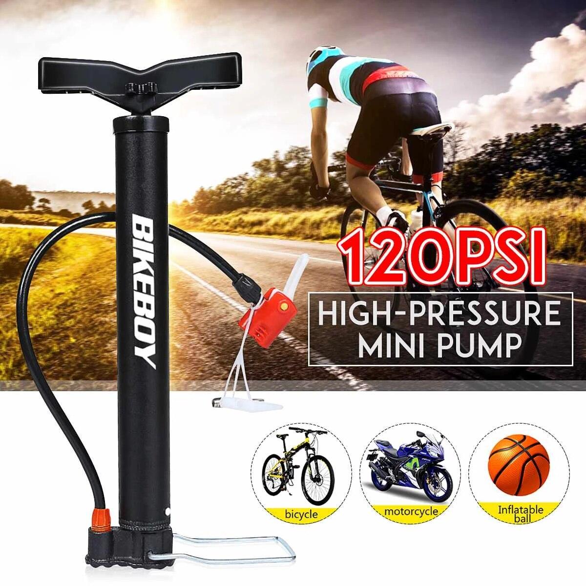 UK High Pressure Bike Pump Bicycle Motorcycle Tyre Tire Hand Air Inflator