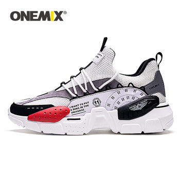 ONEMIX Unisex Sneakers 2019 New Technology Style Leather Damping Comfortable Winter Men Sports Running Shoes Tennis Dad Shoes