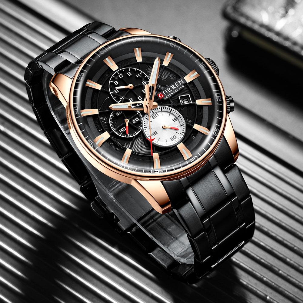 Hcac2afdaa8cb45958963f4abe28b106ch Men's Watches CURREN Top Luxury Brand Fashion Quartz Men Watch Waterproof Chronograph Business Wristwatch Relogio Masculino