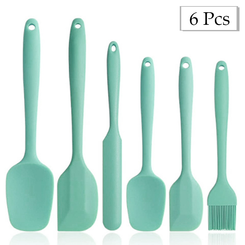 6 Pcs Kitchenware Silicone BBQ Grill Brush Non-Stick Spatula Cake Butter Scraper Grill Cooking Tools