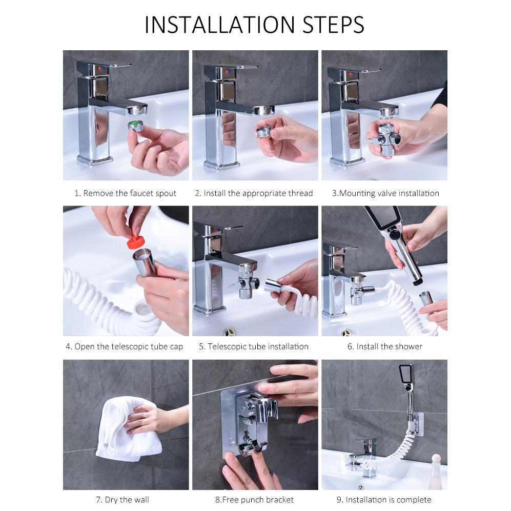 ELLEN Faucet External Shower Hand Toilet Faucet Filter Flexible Suit Wash Hair House Kitchen Sink Faucet Water Saving EL1020 5