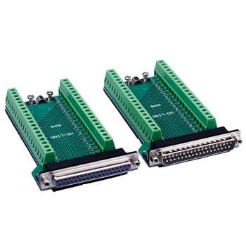 Connecteur femelle/mâle DB37 D-SUB connecteur de rupture de borne de Port à 37 broches connecteurs de borne dadaptateur sans soudure pour câble DB