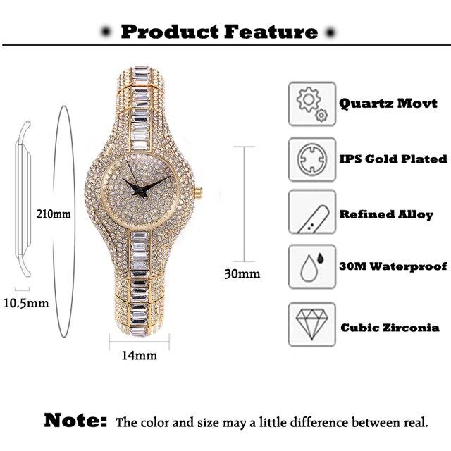 MISSFOX-reloj pequeño de 30mm para mujer, resistente al agua, de lujo, Ar, pulseras de Metal con diamantes de imitación Bu, relojes Chinos Baratos 2