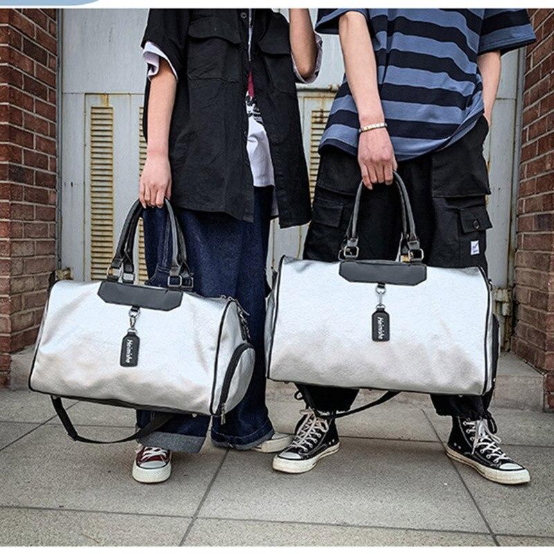 Women Fitness Gym Bag Shoes PU Leather Training Handbag Yoga Luggage Shoulder Bags Sliver Pack Sac De Sporttas Gymtas XA131D