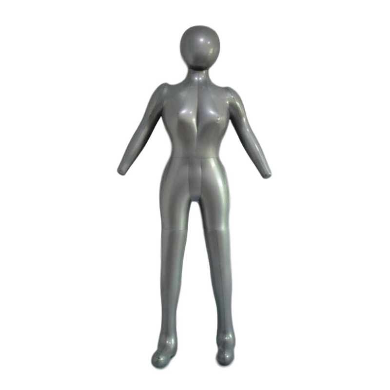 Inflatable Full Body Female Model With Arm Ladies Mannequin Window Display Props