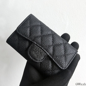Luxury Classical Black Women Bag Brand Fashion Sheepskin Leather Business Card Holder Genuine Leather Credit Card Holder