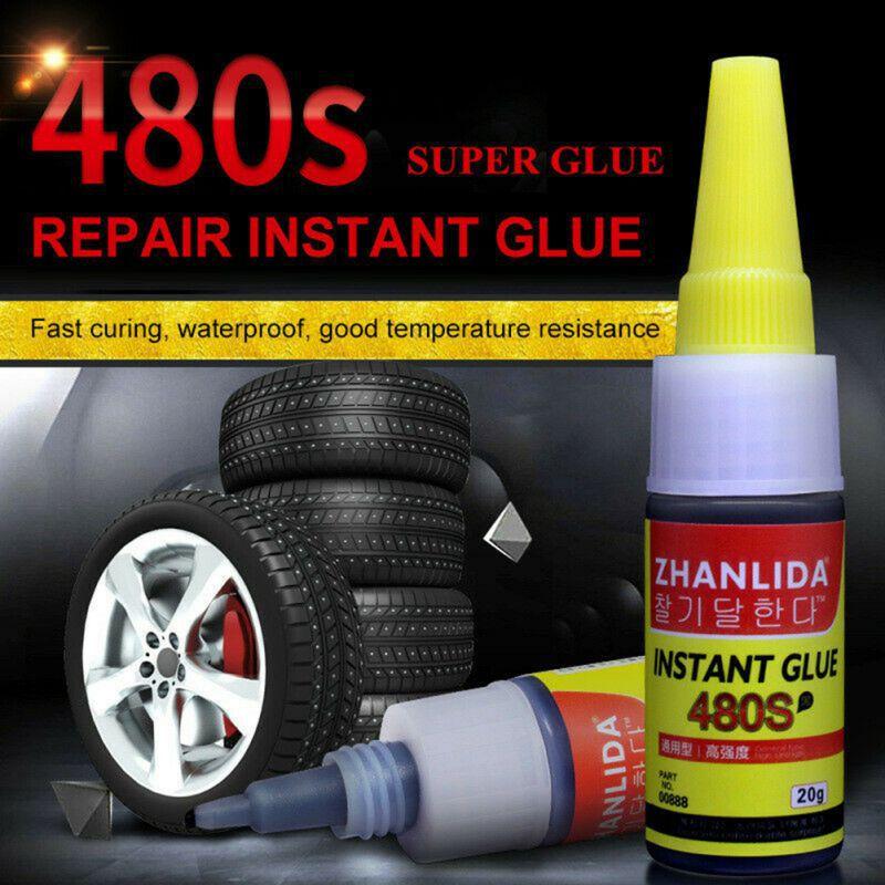 1 pçs 480 s super cola reparação de pneus automóveis cola ferramenta de reparo de bicicleta reparação de borracha pneu cola janela alto falante vedação reparação de pneus cola