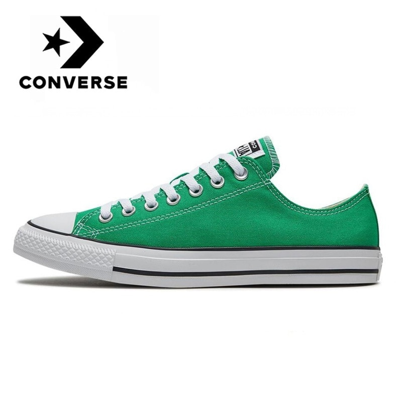 Original Converse ALL STAR Neutral Skateboarding Shoes Classic Couples Outdoor Sneakers Low top Flat Green Canvas Shoes Male|Beach & Outdoor Sandals| - AliExpress