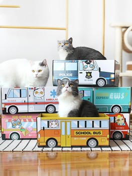 2019 New Cat Scratcher carton House Pet Cat Claw Scratching Board Bed Cat scratch board with Catnip Pet Cat Supplies 1