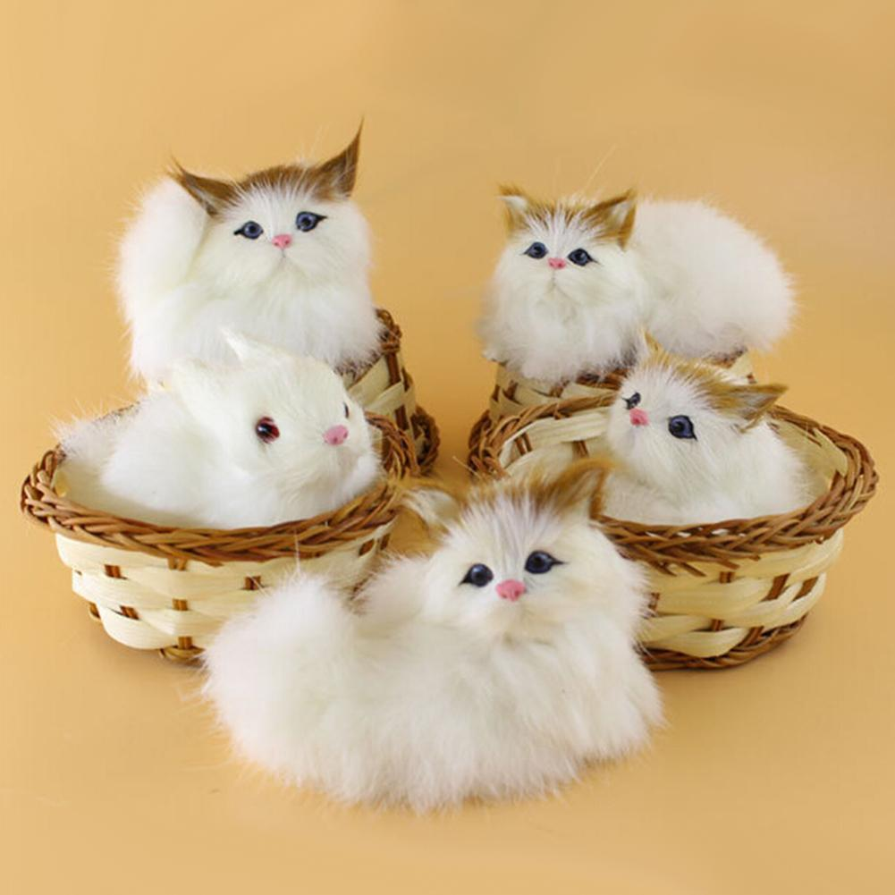 Lovely Simulation Animal Doll Plush Mini Basket Cat Rabbit Dog Kids Xmas Toy Kids Educational Toys for Children Gifts