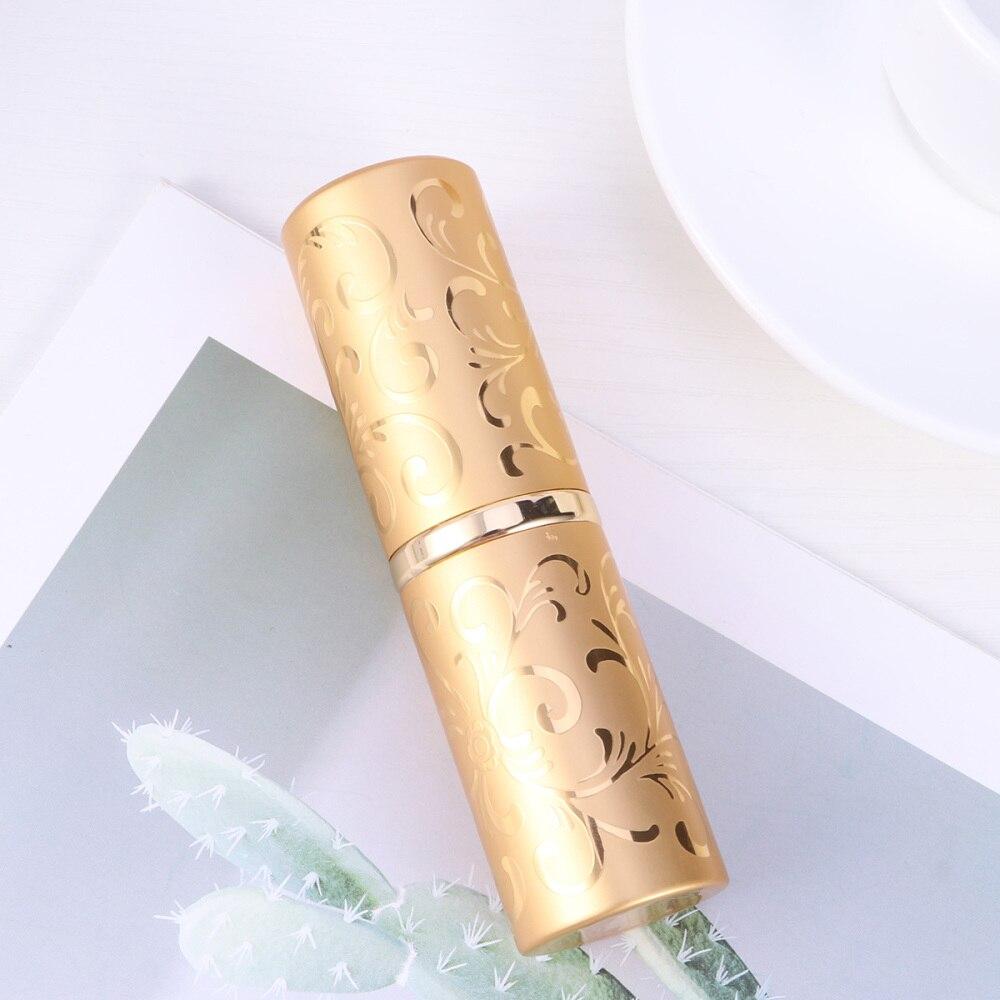 15 мл вращающийся Портативный бутылкы парфюмерного спрея цветочный узор рельеф Алюминий распылитель путешествия многоразовый флакон для д...