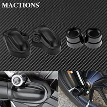 Motorcycle Front Axle Nut Covers+Rear Wheel Shaft Cap Protector Guard For Harley Night Rod Special VRSCDX VRSCF VRSCAW 2002-2017