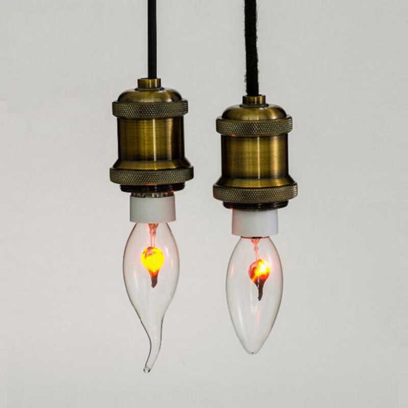 Edison filamento decoración del hogar lámpara vintage intermitente E14 3W llama fuego LED Luz