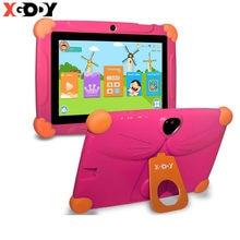 Çocuk tableti çocuklar için Android 8.0 dokunmatik 7 inç HD pedi silikon kılıf USB şarj dört çekirdekli 1GB 16GB