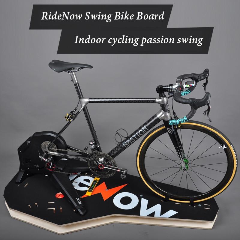 Auxiliar de Simulação de Bicicleta Rolled para Ciclismo Treinador para Treinamento Plataforma de Equitação Ciclismo de Estrada Placa Interno