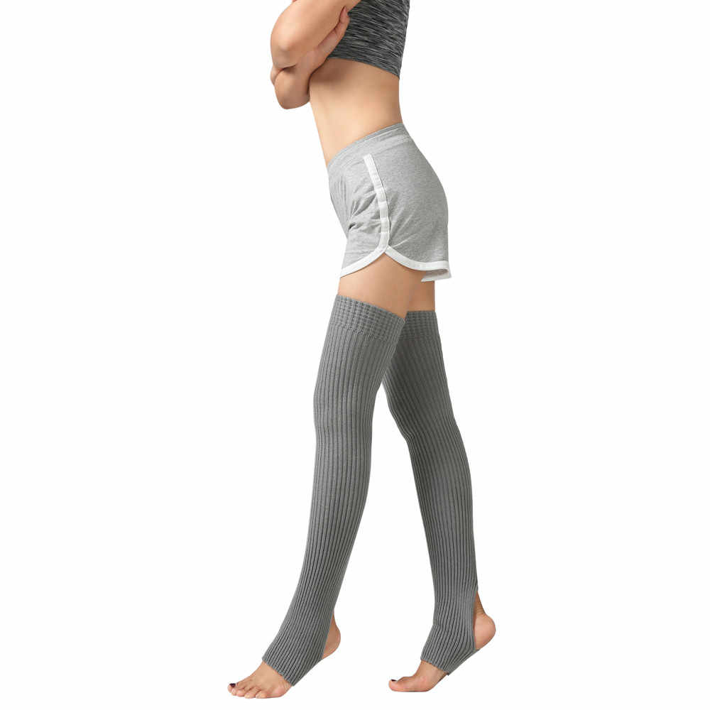 แฟชั่นผู้หญิงฤดูหนาวกว่าเข่าถุงเท้ายาวลำลองขาถักถุงเท้าถุงเท้าสี BOOT COVER Slouch Boot ถุงเท้า # S