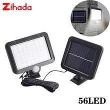 56/100 LED LED שמש אור PIR תנועת חיישן שמש מנורת קיר חיצוני IP65 עמיד למים אינפרא אדום חיישן גן פטיו ספוט אור