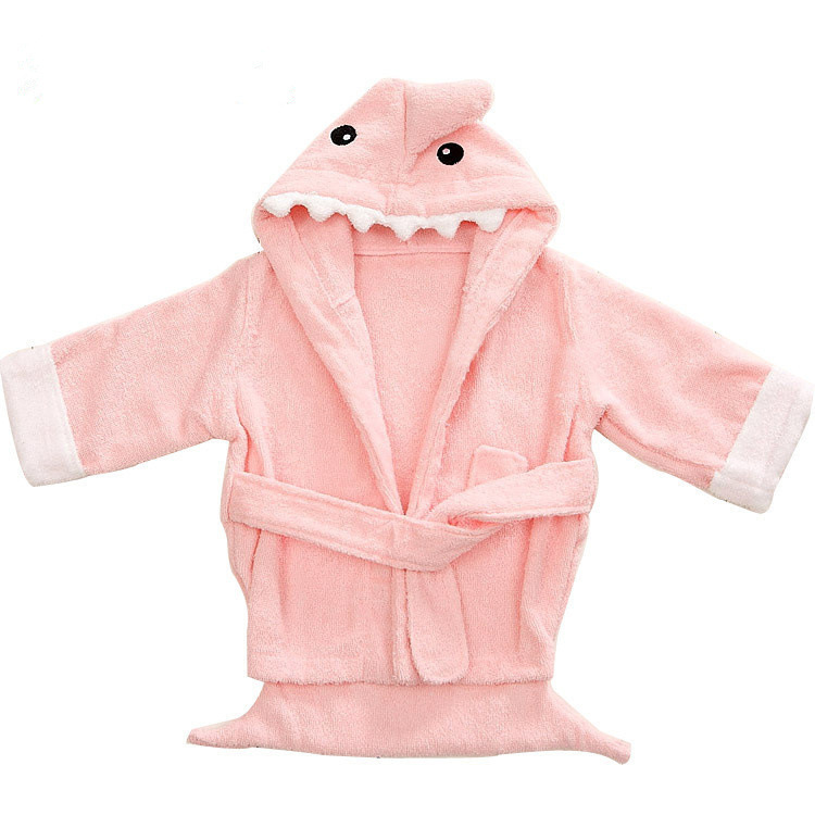 Animal Modeling CHILDREN'S Bathrobes Cute Cartoon Children Tracksuit Pure Cotton Hooded Baby Bathrobe