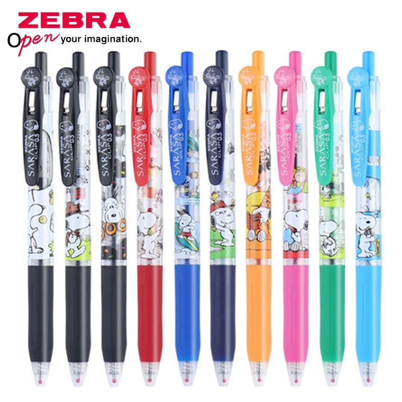 New ZEBRA Snoopy Color Gel Pen SARASA JJ15 Limited Pen JJ29-SN4 0.5mm Cute Cartoon Student Writing Gel Pen