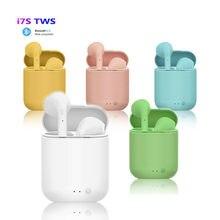 Rglm mini fone de ouvido i7s tws wireless, mini fone de ouvido estéreo com bluetooth, headset com doca de carregamento para todos os smartphones