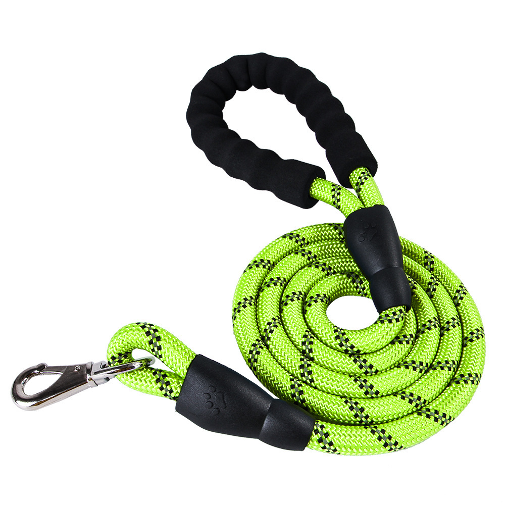 Pet Supplies Reflective Dog Chain Single Dog Round Nylon Rope