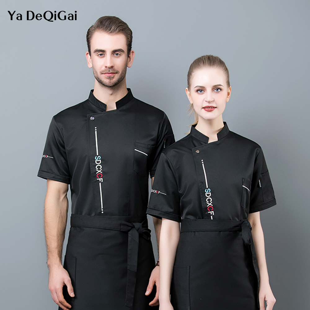 High Quality Chef Shirts Kitchen Restaurant Food Series Workwear Cooking Bread Baked Goods Service Hot Pot Shop Chef Uniform