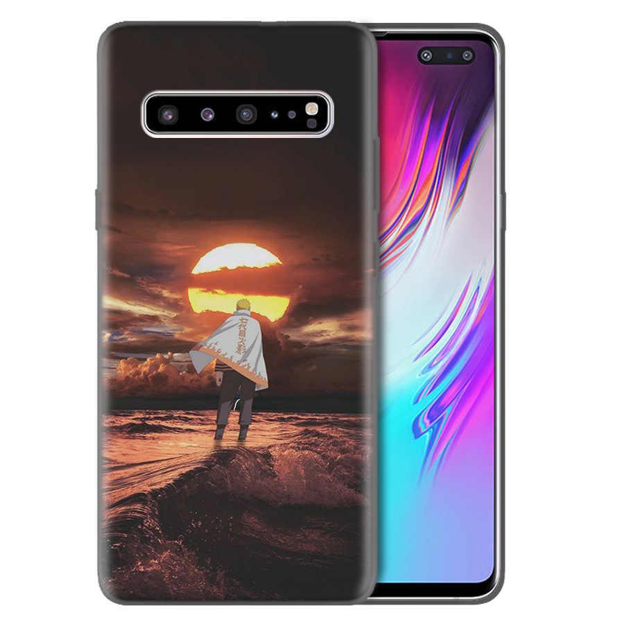Uzumaki Naruto Capa de Silicone Para Samsung Galaxy S10 S10e 5G S9 S8 S7 Borda J8 J6 J4 Plus 2018 m40 M30 M20 M10 Capa