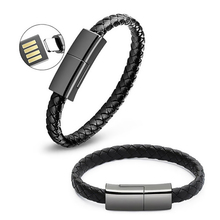 Wearable Bracelet Charging Cable Micro USB Type C Data Sync Mobile Phone Short Cables For iPhone Android Charger Cord Wire