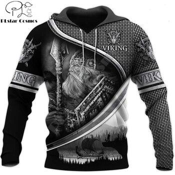Fashion Men for women Viking hoodies 3D printed Tattoo Odin Sweatshirt Hoodie Autumn Streetwear Casual Tracksuit drop shipping 1