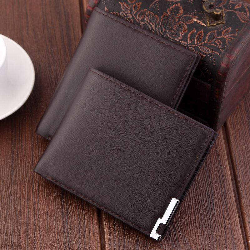 2019 Ultra-thin Short Sequined Men Wallets with Coin Bag Black Purse Men Wallet Male Small Money Dollar Slim Card Case Carteira 3