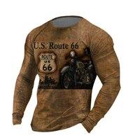 Camiseta Vintage de gran tamaño para hombre, camisa informal con letras estampadas a la moda, Top de manga larga, ropa para hombre