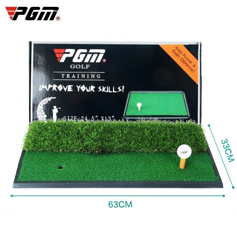 PGM Premium Golf Double tapis d'herbe balançoire/barre de coupe/tapis d'exercice intérieur/extérieur vert Mini maison plaque de Base en caoutchouc robuste