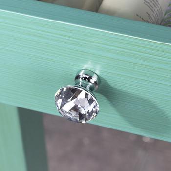 Keenkee kuchnia szafka klamki do drzwi uchwyt szuflady gałka do drzwiczek szafki gałka szuflady kryształ z chromowane złoto kolor tanie i dobre opinie Maszyny do obróbki drewna Szkło kryształowe CN (pochodzenie) M00073 Crystal handle Meble uchwyt i pokrętła singleho