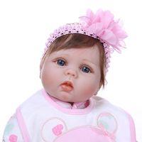 22 дюйма кукла реборн мягкий силиконовый малыш соска для младенца одеяло реалистичные ручной работы AXYA
