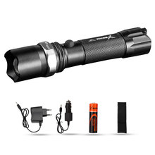 Brand YAGE 336C CREE XP-E LED Flashlight Aluminum Waterproof Zoomable Self defense Torch Light with1*18650 Battery +car charger цены онлайн