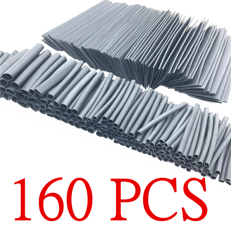 160PCS Heat Shrink Tubes Cable Sleeves Protector Pc Tubing Wrapping Heating Protection For Winding Wires Connection Kit Tubing