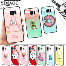 Best Friends girls Couple Glass Case for Samsung S7 Edge S8 S9 S10 Plus S10E Note 8 9 10 A10 A30 A40 A50 A60 A70 стоимость