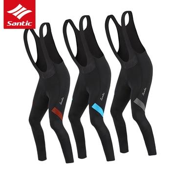 Santic Cycling Bike Bib Shorts Men Shorts Tight skinny 3D Pad Spandex Padded Downhill Road Mountain Shorts Cycling Accessories