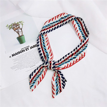 Small Scarf Neckerchief Women 's Korean -Style Tie Bag Wrapped Handle Ribbon All -match Slender Long Hair Band
