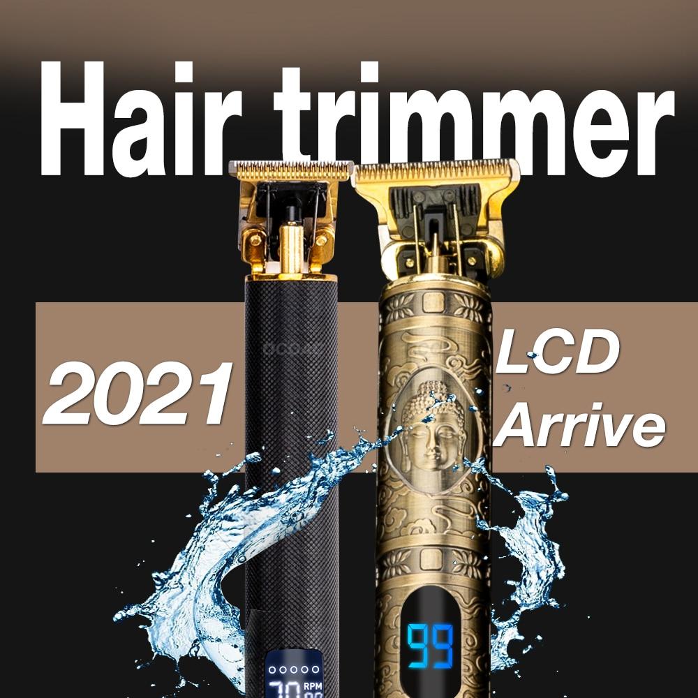 2021 New Hair Trimmer Electric Hair Clipper Professional Shaver Beard Barber 0mm Men Hair Cutting Machine For Men Haircut Style 2