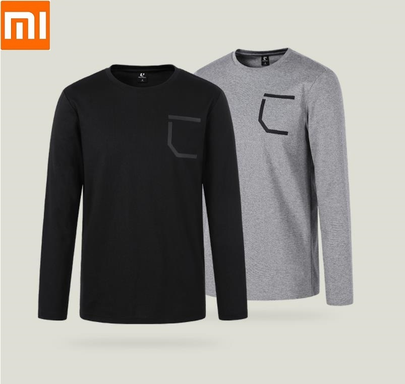Xiaomi New Youpin ULEEMARK Stylish Casual Men Comfortable Round Neck Long Sleeved T-shirt Moisture Absorbing Soft Sweatshirt